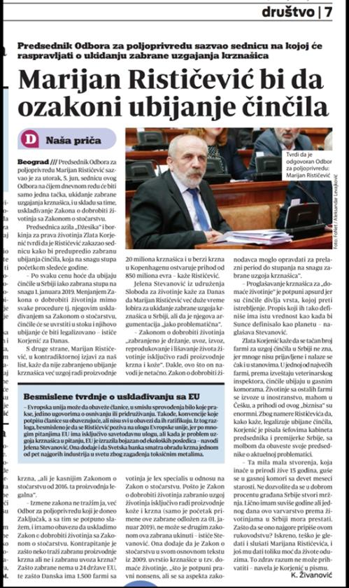 danas novine
